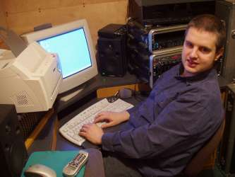 picture of Phil working at a PC